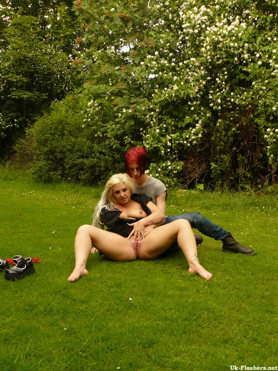 Bbw wife playing outside
